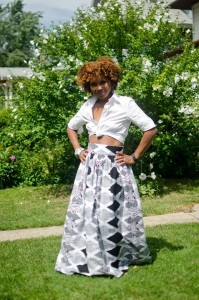 DIY GATHERED MAXI SKIRT